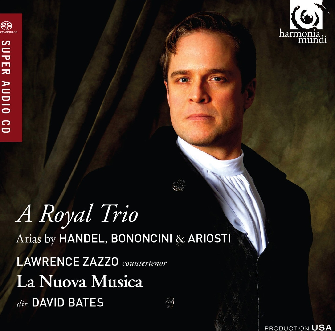 """A Royal Trio - Lawrence's first solo orchestral CD, A Royal Trio, just released by Harmonia Mundi USA.""""Zazzo in glorious voice throughout****"""" The GuardianClick here to read interviewClick here to order from Amazon"""