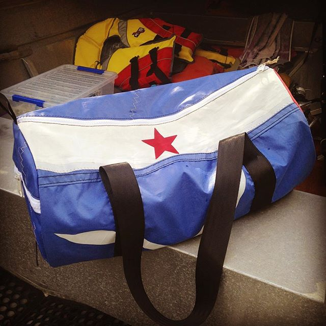 #sailability donated some awesome sails to us and here is one of the bags we've created! Julie snapped this one up but stay tuned for more with $10 from every bag sold going to these awesome folk making sailing accessible to all ⛵️ #donate#volunteer#sailability#yachtclub#sandybay#accessibility#disability#gearbag#disabilityawareness#discovertasmania#community#zerowaste#reuse#takethreeforthesea#debrisfreeoceans