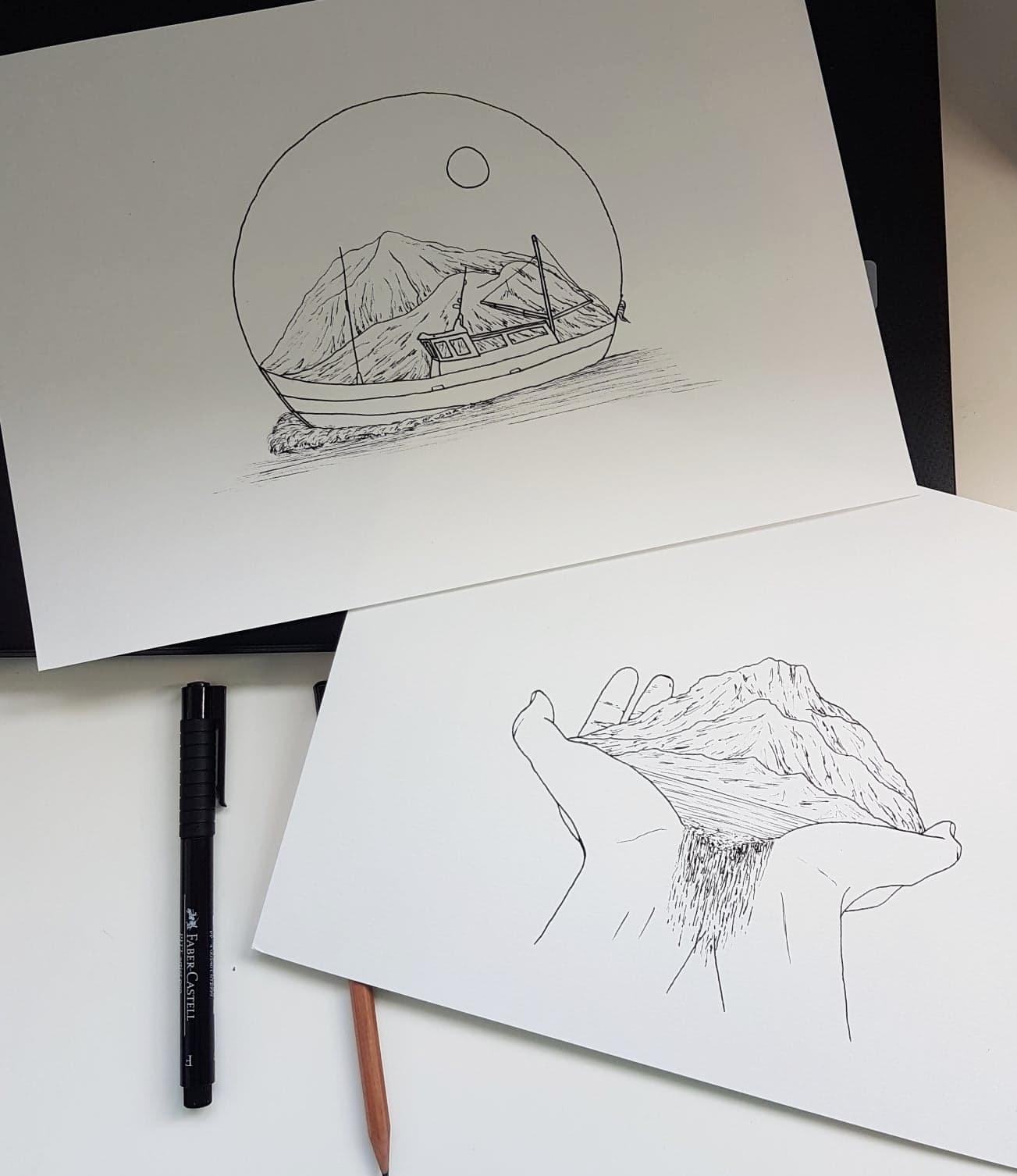 ink-drawings