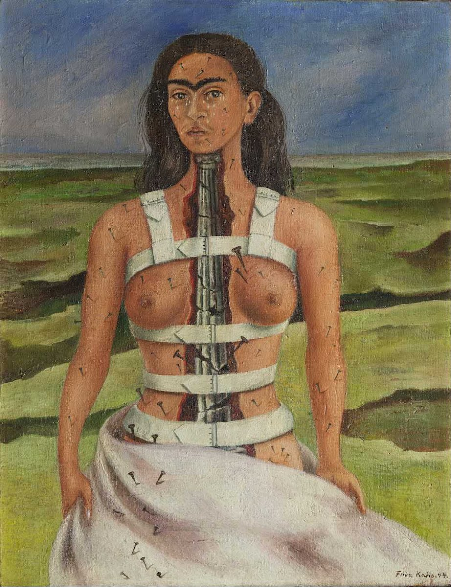 Frida Kahlo, 1944. The Broken Column.
