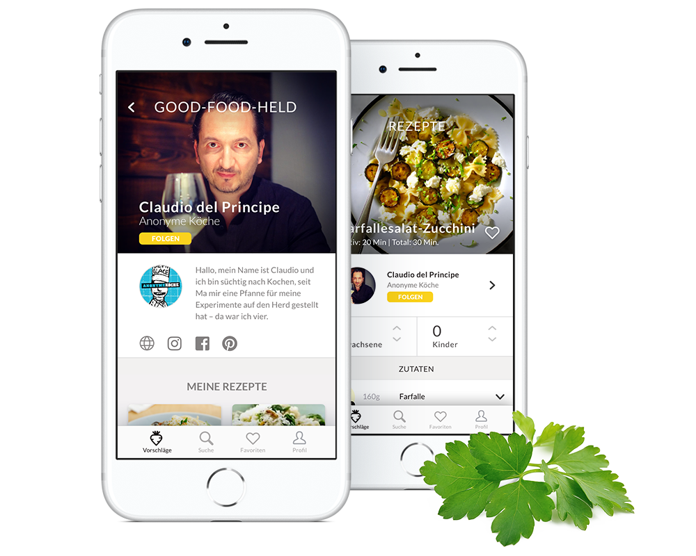 5. Folgen - Folge deinen Lieblingsköchen und Food-Bloggern, um dich inspirieren zu lassen und die besten Tipps und neusten Rezepte nicht zu verpassen.