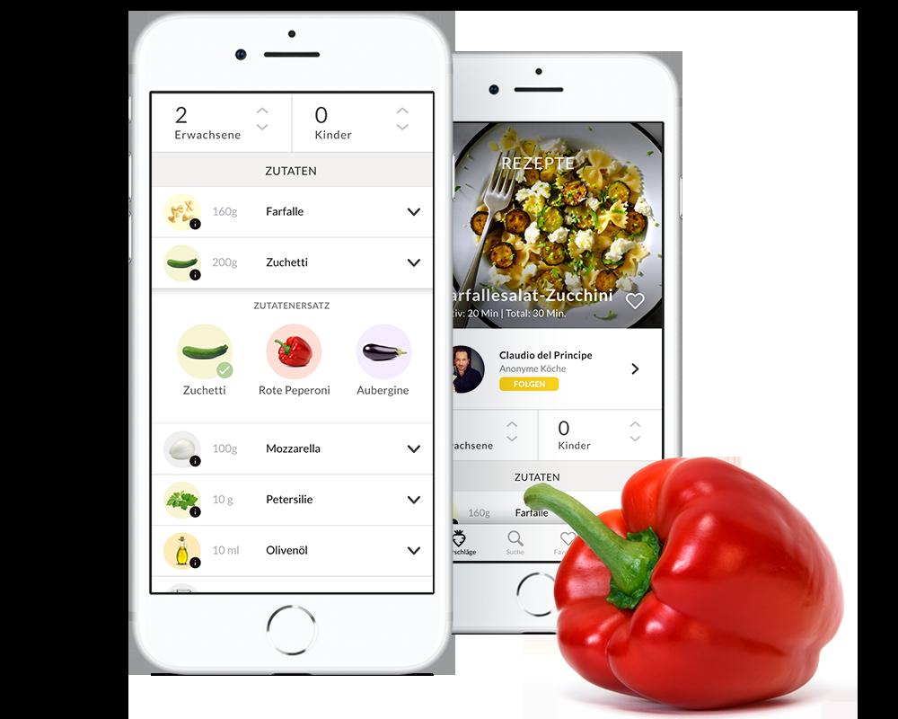 Flexible Zutaten - Gestalte deine Rezept so, dass es den Usern die Flexibilität gibt, die Zutaten gegen ähnliche Vorräte aus ihrem Kühlschrank austauschen zu können, um weniger Food-Waste zu haben.