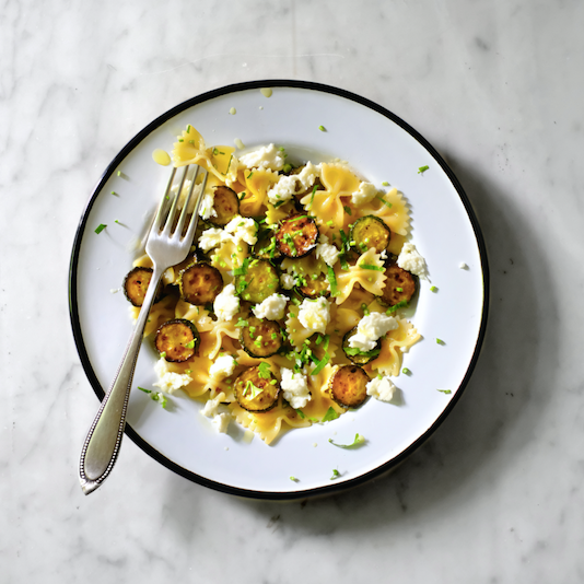 Farfalle with courgette