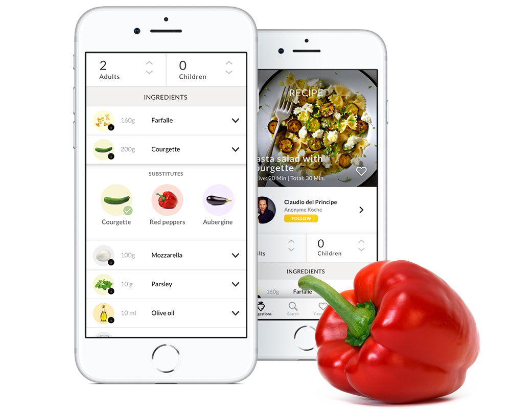 3. Customize - No courgette? No problem. Just swap in some peppers.We'll update the preparation steps to make sure your newly created recipe works perfectly every time.