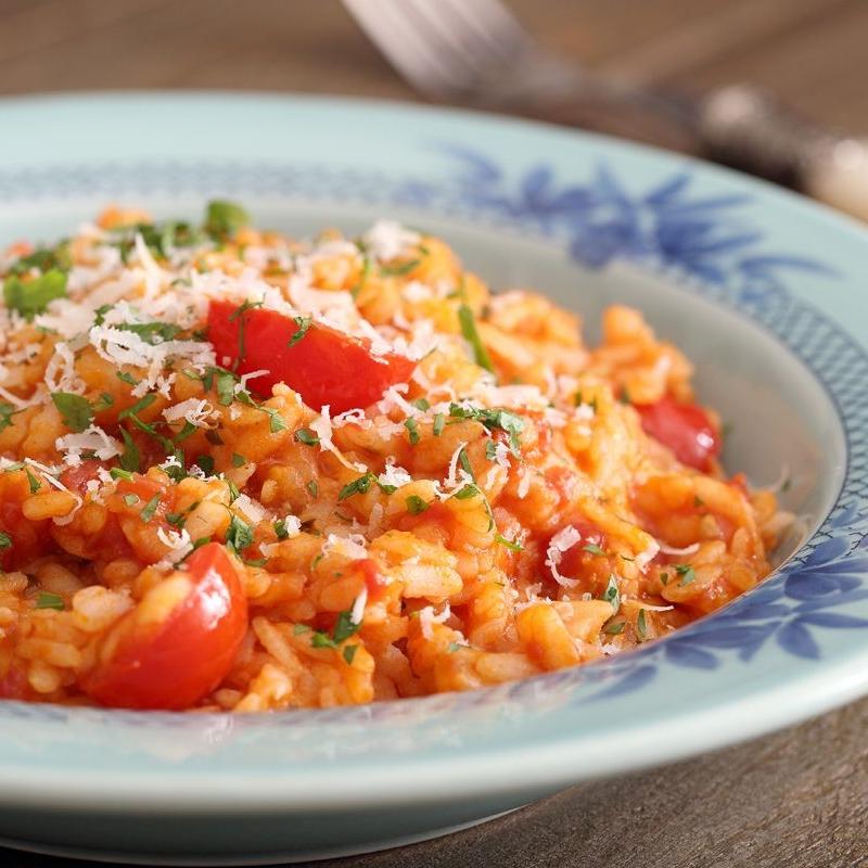 Courgette and tomato risotto