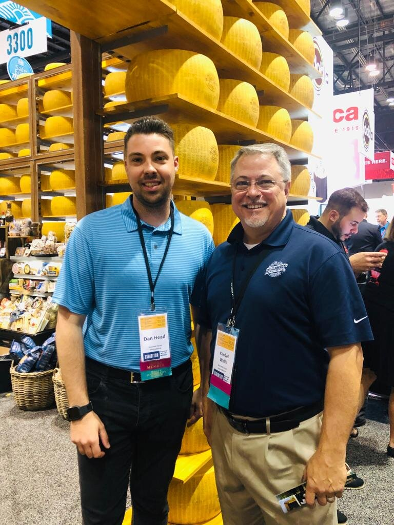 Here's Dan (who heads up our US Sales) with one of our key US distributors at the International Deli, Dairy and Bakery Expo 2019.