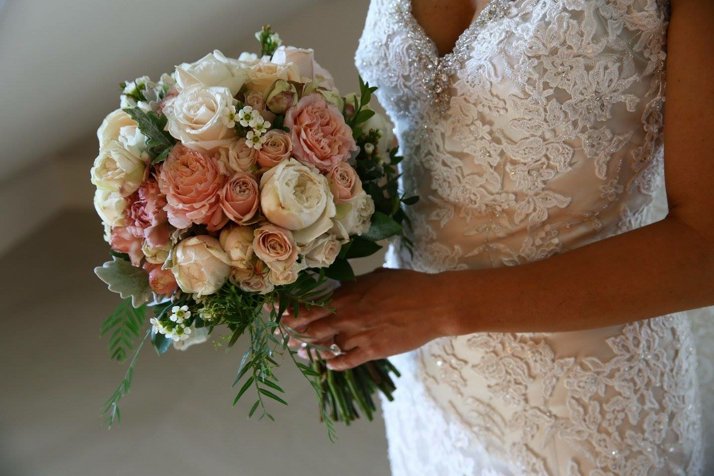 Bridal bouquet-round posy style