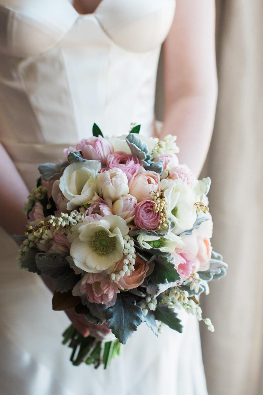 Natural Stemmed Bridal Bouquet