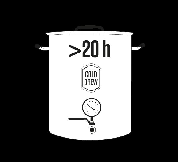 5 TIEMPO - El proceso de la infusión se hace durante más de 20 horas, consumiendo 0 energía y extrayendo con paciencia los mejores aromas y sabores naturales.