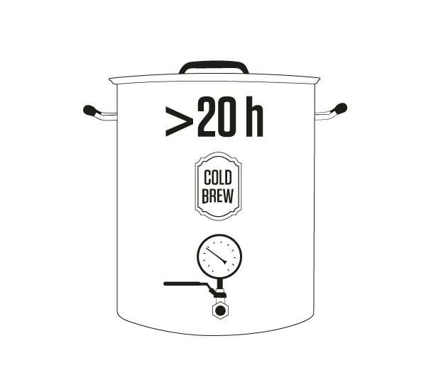 5 TIME - Infusing in purified cold water for over 20 hours, extracting the natural flavours and aromas while leaving aside sourness and acidity.