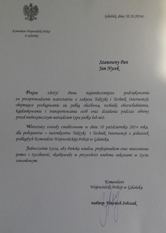 Komendant Wojewódzki Policji w Gdańsku