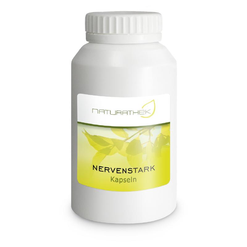 Nervenstark Kapseln   Stärken geschwächte Nerven und fördern die Belastbarkeit und Resistenz gegen den Stress im Alltag.
