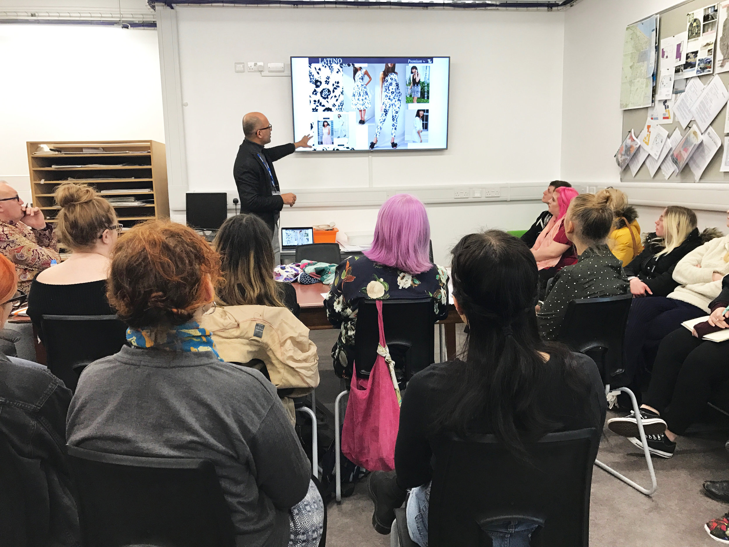 - I had the privilege to do a talk at Cleveland College of Art and Design about my journey in the world of Textiles and Fashion. I am very passionate about sharing my skills with students and encouraging them on their design journey.