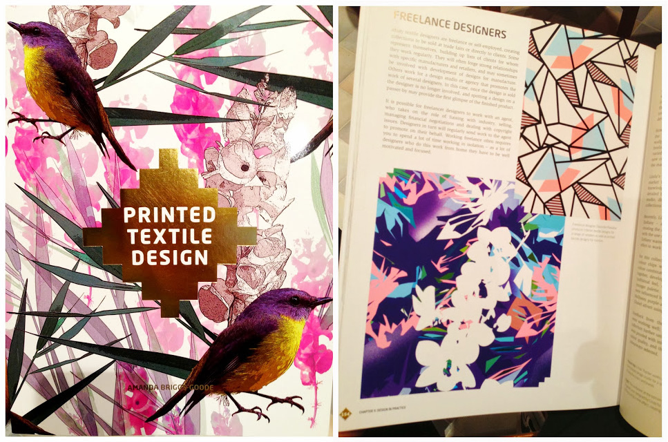 A big thank you to Amanda Briggs Goode ( Head of Fashion and Textiles at Trend University ) for allowing me to be featured in her Book 'PRINTED TEXTILE DESIGN' ((Lawrence King Publishers) here I share my experiences of being a freelancer.