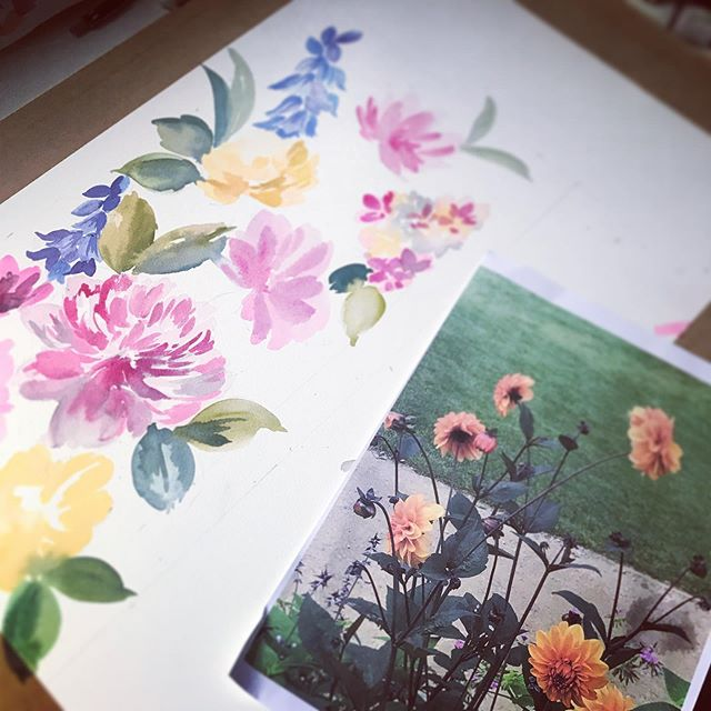 So I'm working on a commission and my reference is my photographs taken @rhsharlowcarr my gem of a place here in Yorkshire... #wearethemadahers #watercolorflower #harlowcarr #painting #artist #floral #inspire #inspiration #dsfloral #designer #watercolorflower #instagram #learn #practicemakesperfect