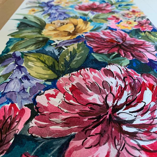 So I've finished my commission and it's ready to be shipped to the USA... I'm so grateful that people like my work... I will continue to work on more commissions and if you have a request Dm me...#artist #watercolour #dsfloral #floralpainting #lovemycraft #flowers #gift#commission #bringsjoy
