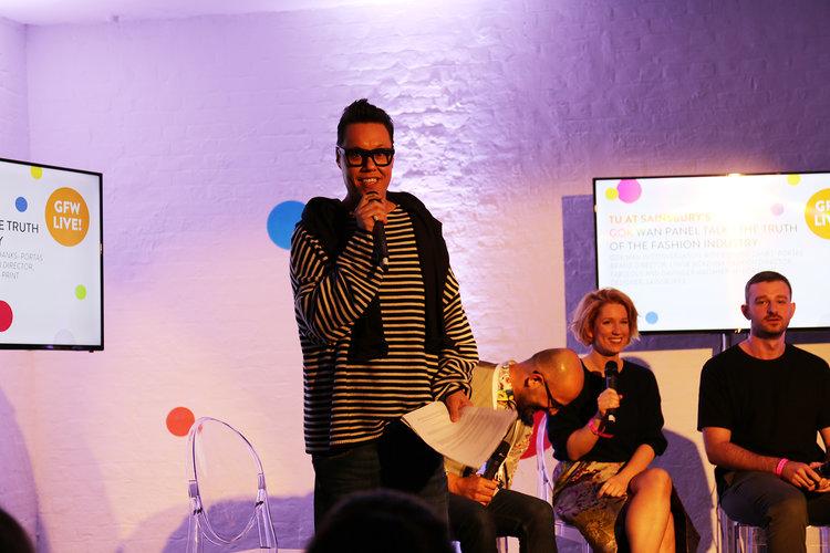 On the Panel with Gok Wan Lynne McKenna Fashion Editor at Fabulous Magazine and Richard Danks