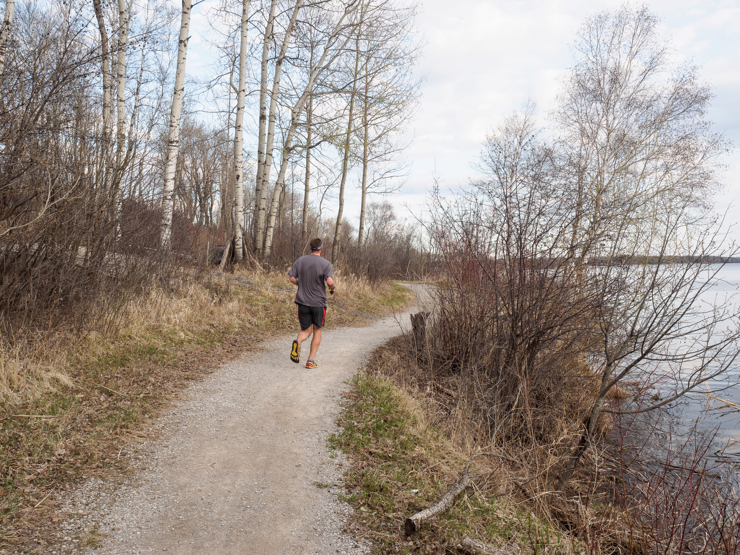 A runner enjoys the Western Waterfront Trail. He didn't walk.
