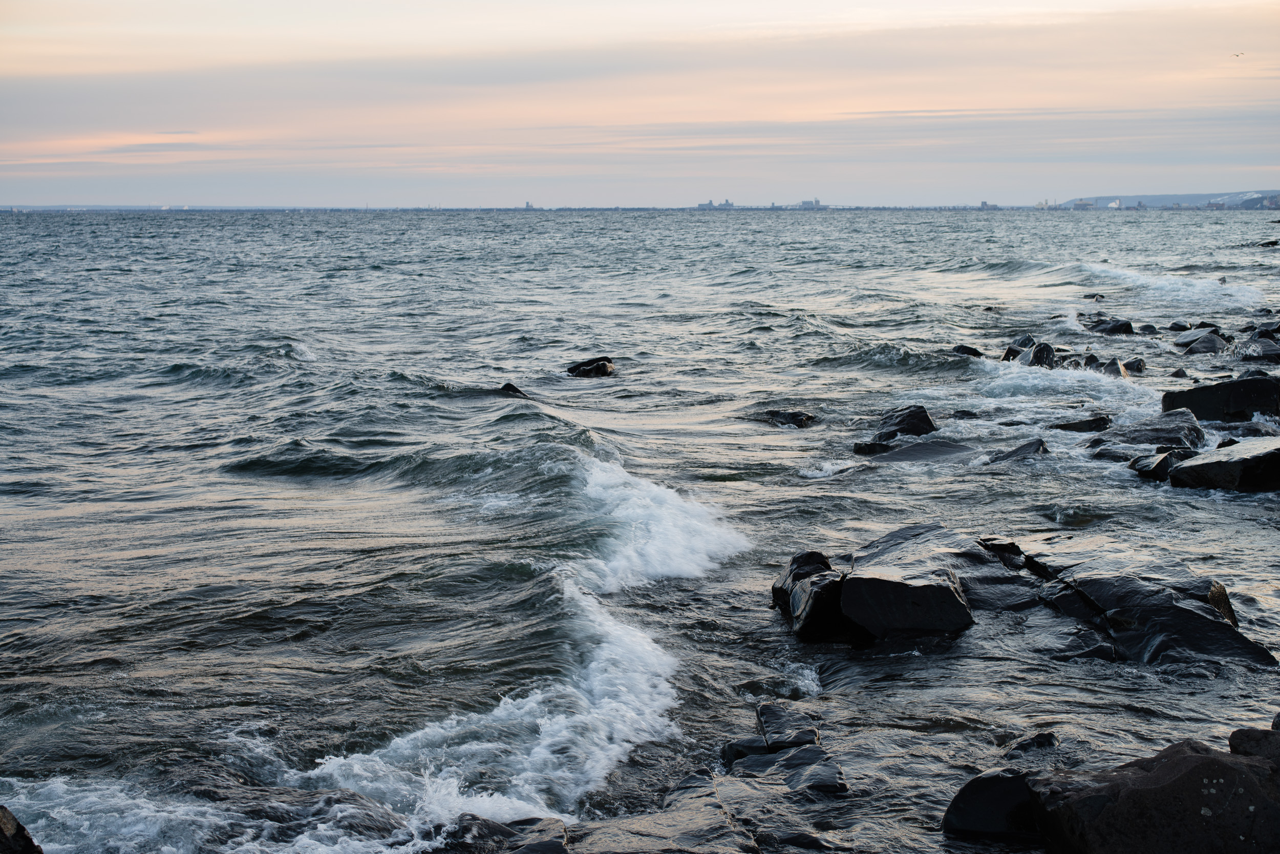 Lake Superior last March, Duluth, MN. #50mm #lakesuperior #northshore #Minnesota #waves