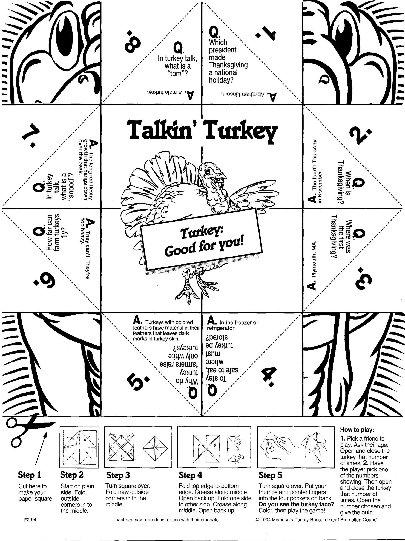 Turkey folding game
