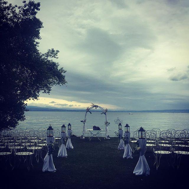 Wedding day! #chateaudecoudree #wedding #gospel #hallelujah #trio #lakeleman #ohhappyday #joyful