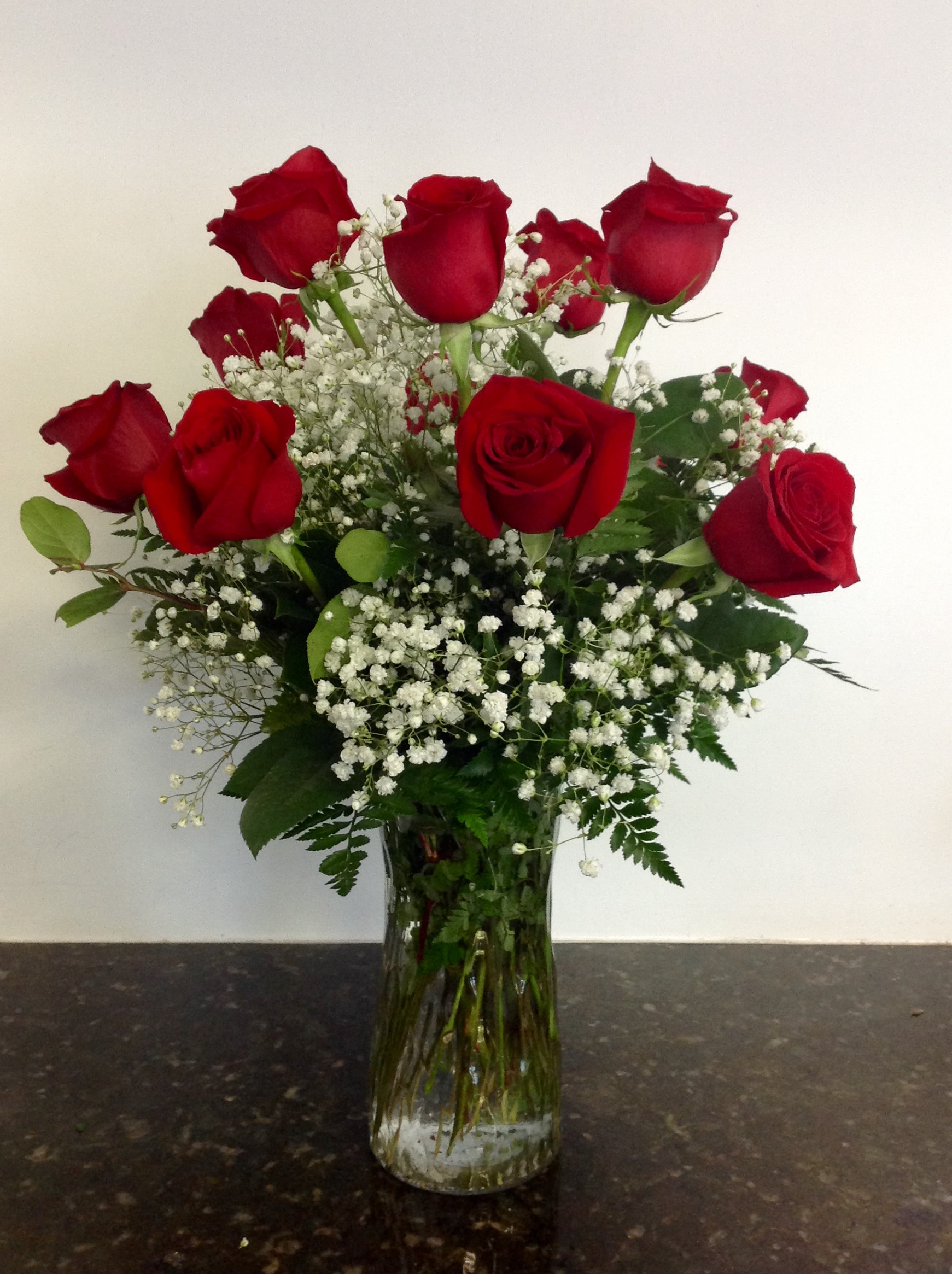 Classic Long Stem Roses - 1/2 dozen $45 • 1 dozen $75 • 2 dozen $150