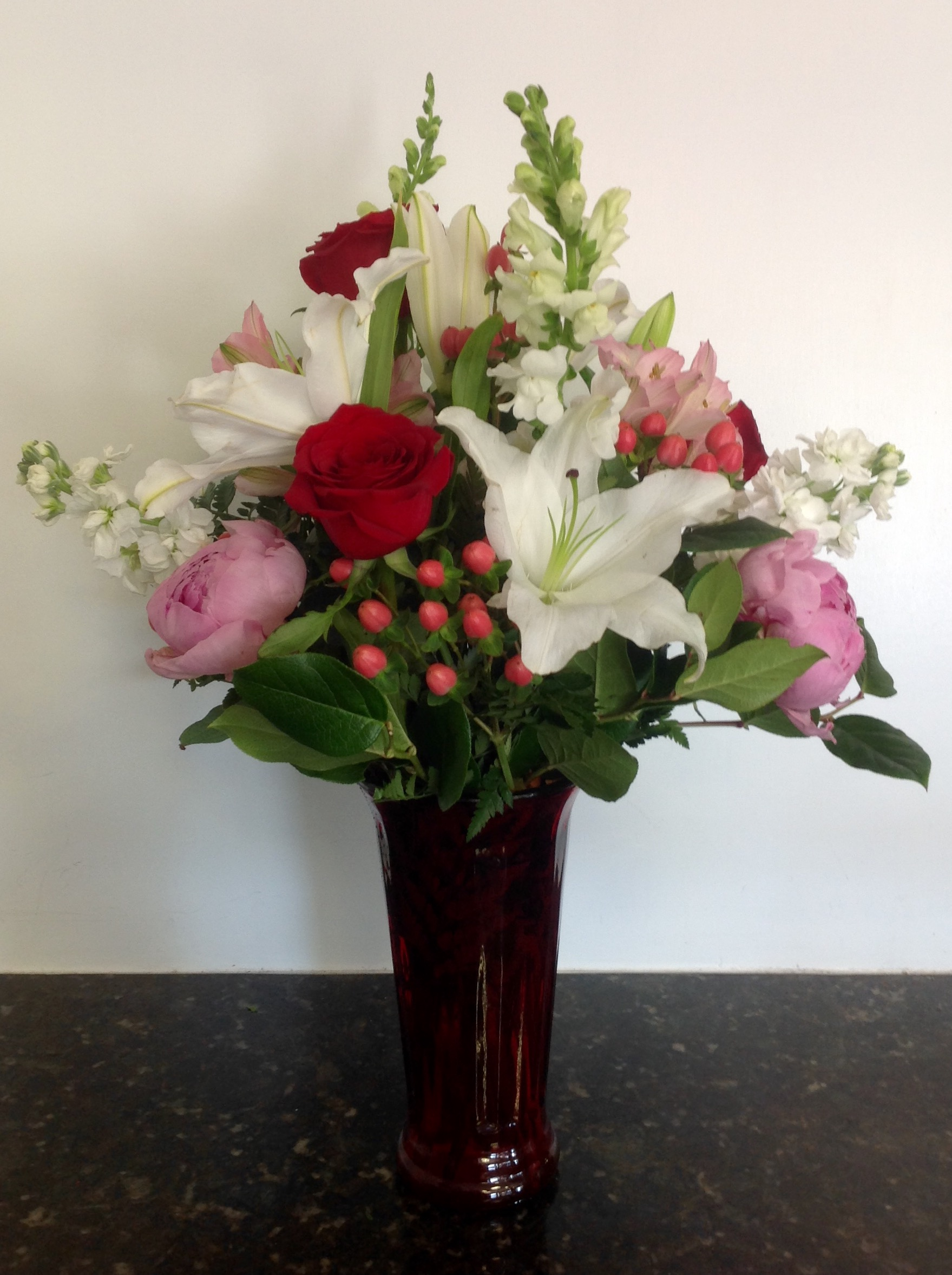 Perfectly Passion Bouquet  - Standard $85 • Premium (shown) $100 • Deluxe $120