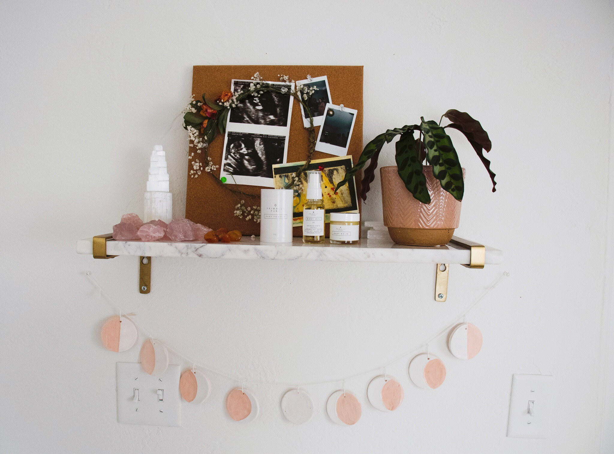 Boho-Vintage Nursery with Blush Accents