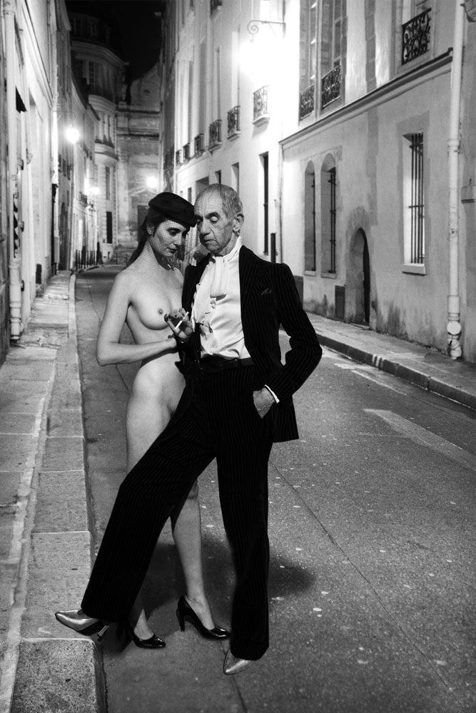 Copy of « LOOKING FOR THE MASTERS IN RICARDO'S GOLDEN SHOES #64 (TRIBUTE TO HELMUT NEWTON, YSL, FRENCH VOGUE, RUE AUBRIOT, PARIS, 1975) » BY CATHERINE BALET