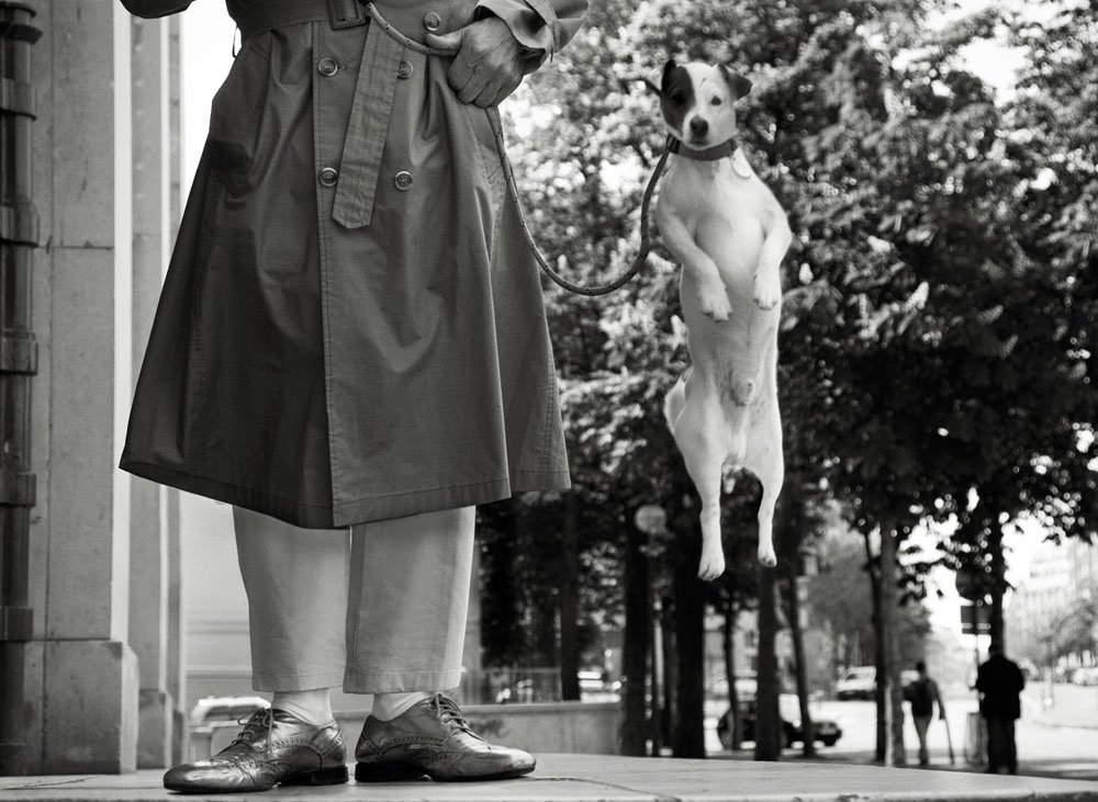 Copy of « LOOKING FOR THE MASTERS IN RICARDO'S GOLDEN SHOES #78 (TRIBUTE TO ELLIOT ERWITT, PARIS, 1989) » BY CATHERINE BALET