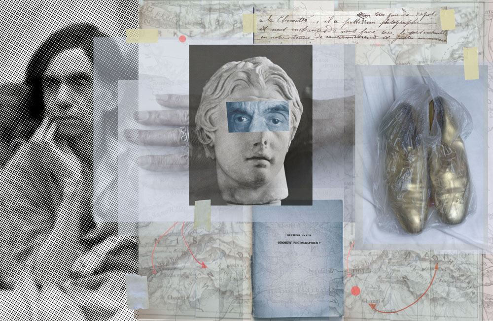 Copy of « LOOKING FOR THE MASTERS IN RICARDO'S GOLDEN SHOES #118 (COLLAGE TREND) » BY CATHERINE BALET