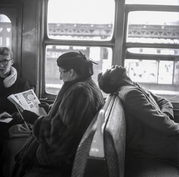 "Copy of ""ASLEEP ON THE SUBWAY TRAIN"" BY HAROLD FEINSTEIN"