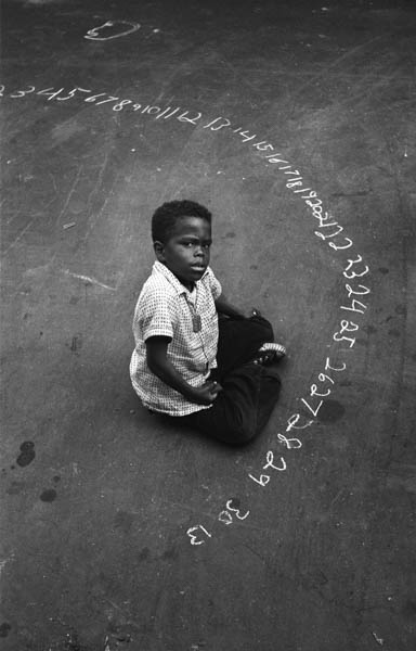 "Copy of ""BOY WITH CHALK NUMBERS"" BY HAROLD FEINSTEIN"