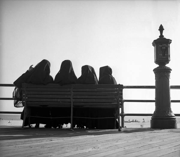 "Copy of ""FOUR NUNS ON A BENCH"" BY HAROLD FEINSTEIN"