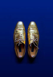 """Catherine Balet, exposition """"Looking for the Masters in Ricardo's Golden Shoes"""""""