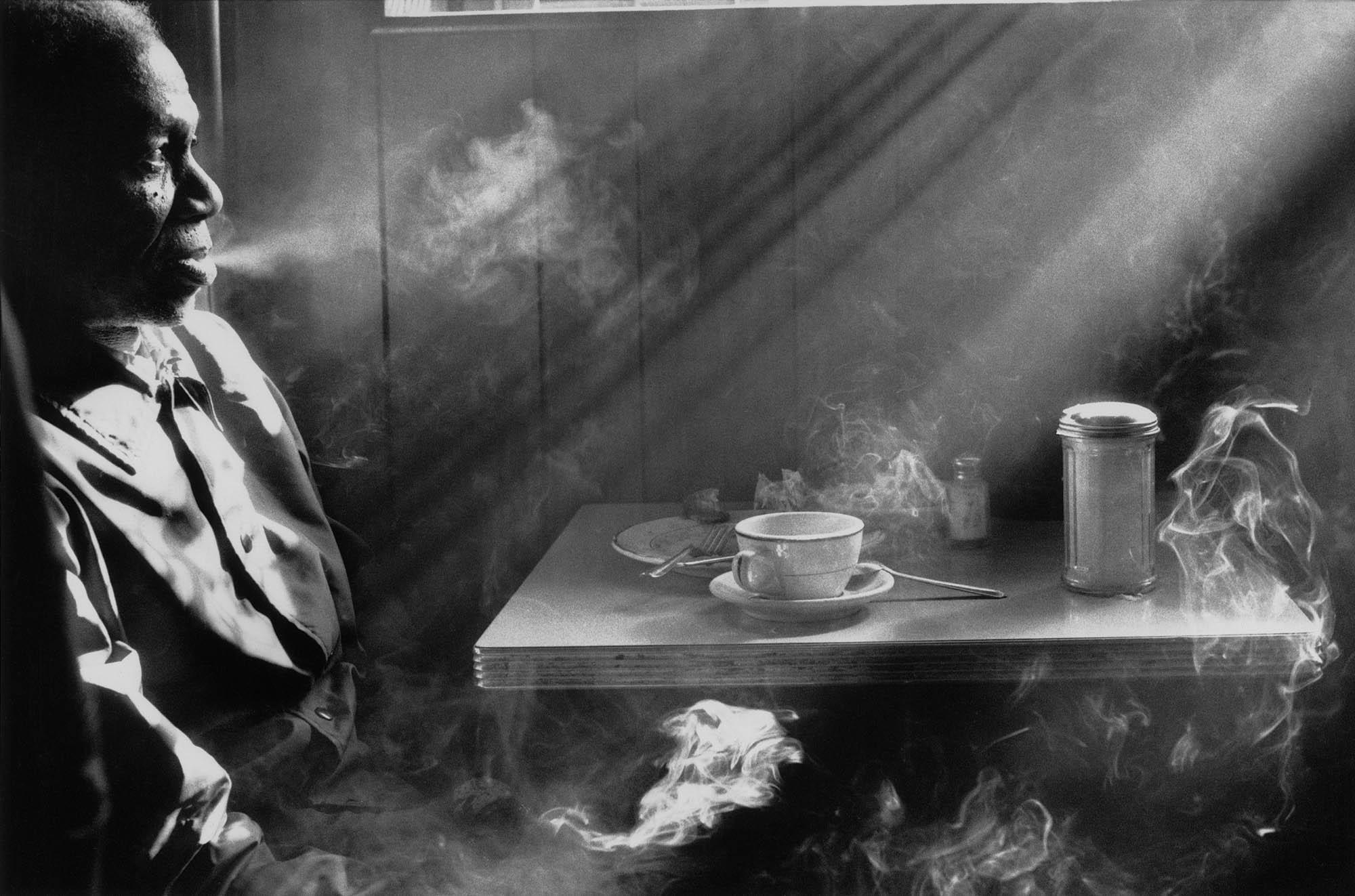 Copy of Man Smoking in Diner (New York, NY), 1974