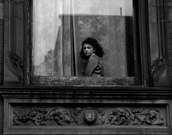 Harold Feinstein - Girl in Harlem Window, 1954
