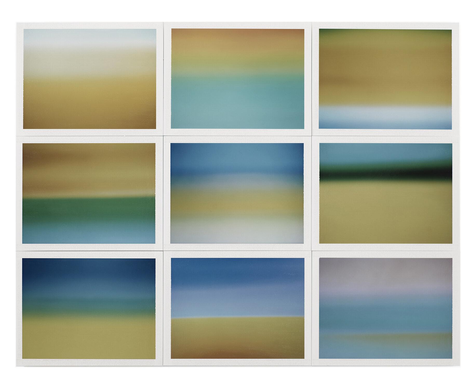 Thomas Paquet - Horizon, étude couleur #4, 2015