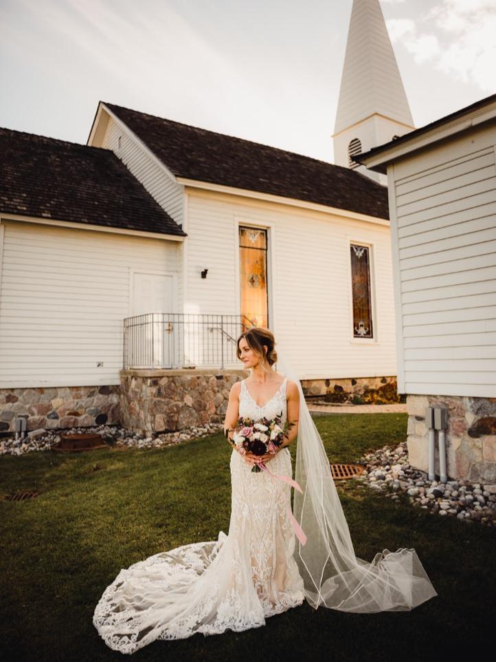 troy historic village wedding ceremony