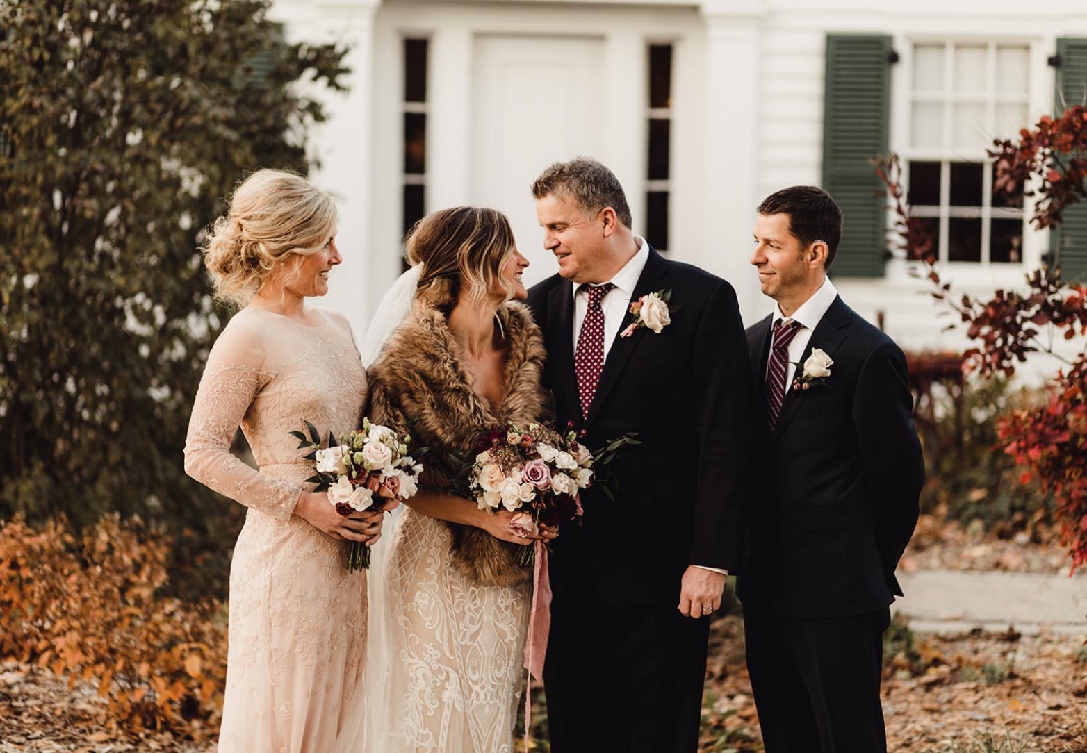 troy historic village fall wedding