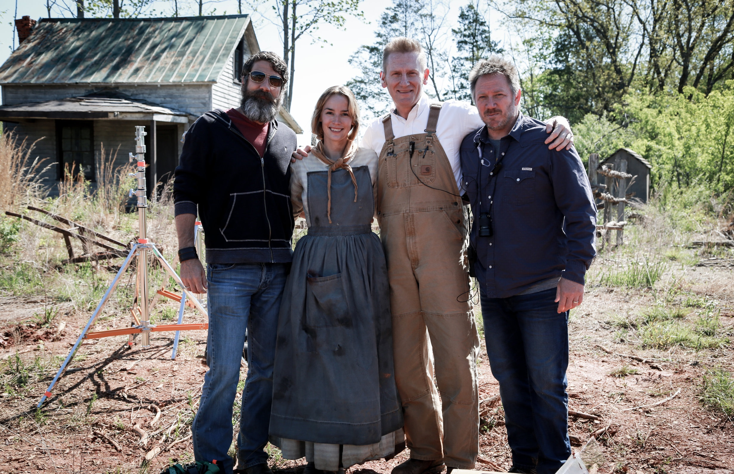 April 26, 2015… our first day of filming in Virginia. (from left to right, Aaron Carnahan, Alice Coulthard, me and Bryan Allen.)