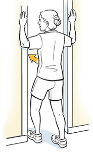 Stand in the doorway for this upper body stretch!