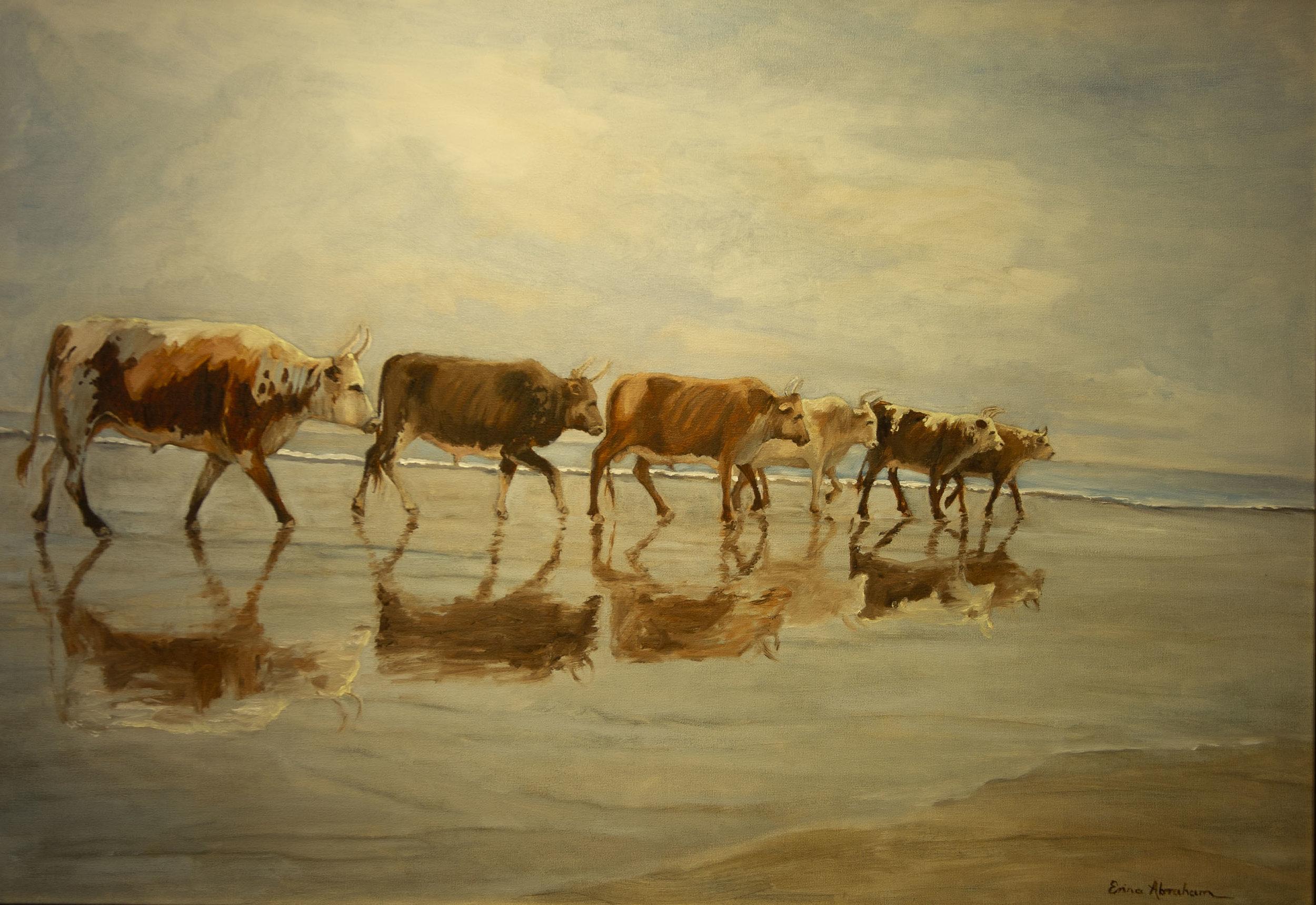 Kosi Baai, Zululand - Nguni reflections *SOLD*