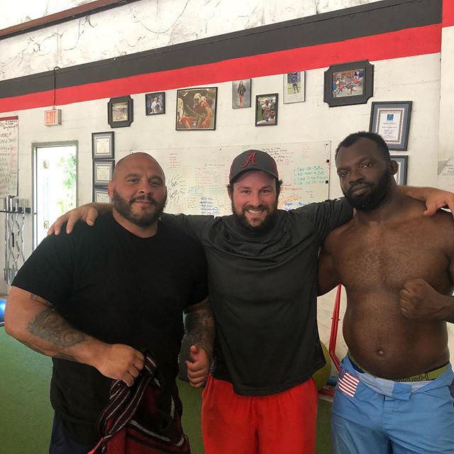 Good work today with @momuscle and his jiu jitsu and wrestling coach @toddcutlerbjj_fs #elite #strength #performance #strengthtraining #strengthandconditioning #mma #jiujitsu #wrestling #boxing #PFL #ufc #daytona #florida #athlete