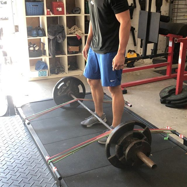 @zbry34 performing some banded deadlifts followed by banded good- mornings. #elite #strength #performance #strengthtraining #strengthandconditioning #baseball #minorleague #mlb #chicagocubs #athlete #daytona #ormond #portorange #ormondbeach #newsmyrnabeach #florida