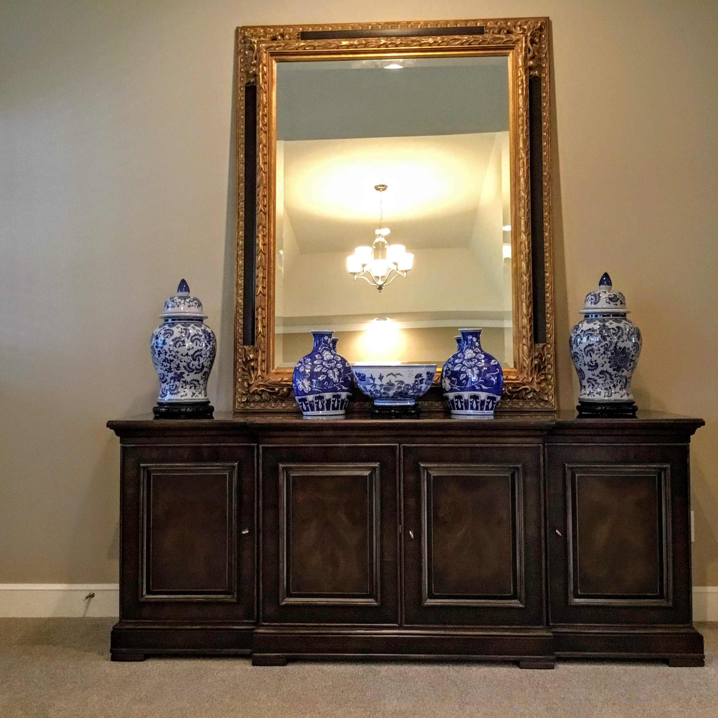 Staging Tulsa - Zarrow Pointe Villas Living Mirror.JPG