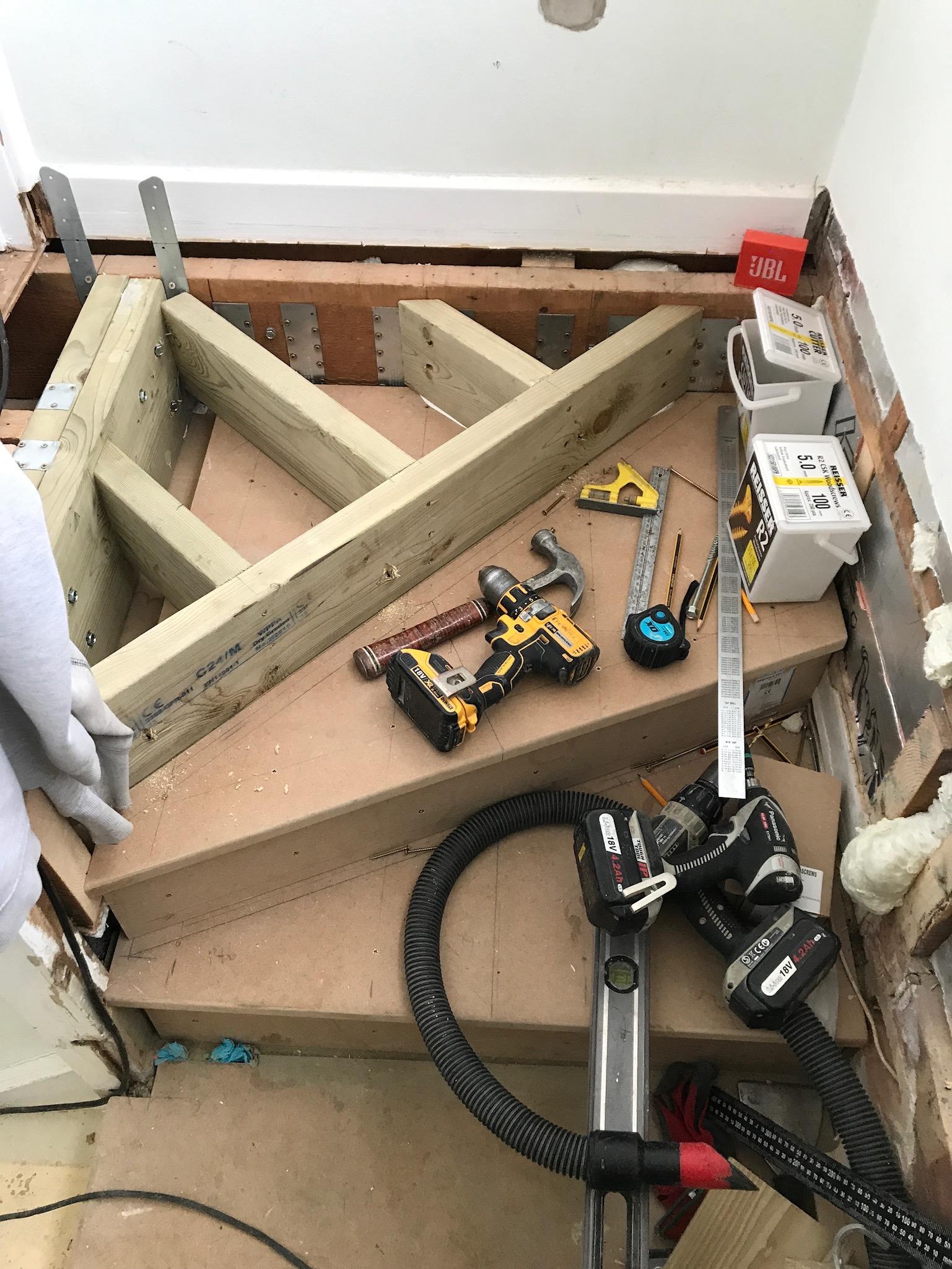 Worthing Loft COnversion Adjusting Stairs.jpeg