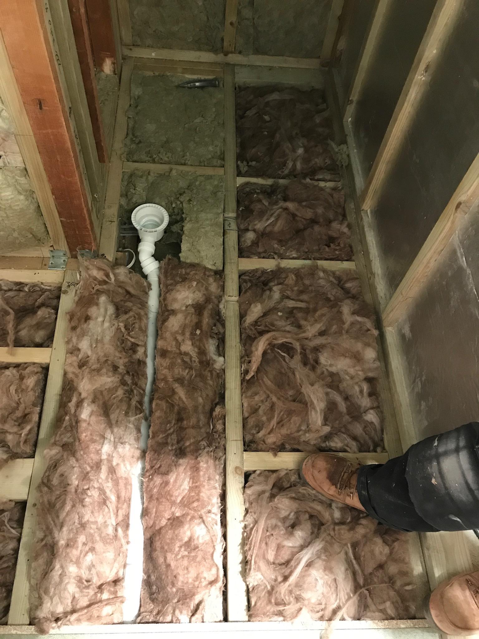 Worthing Loft COnversion En suite Plumbing shower waste.jpeg