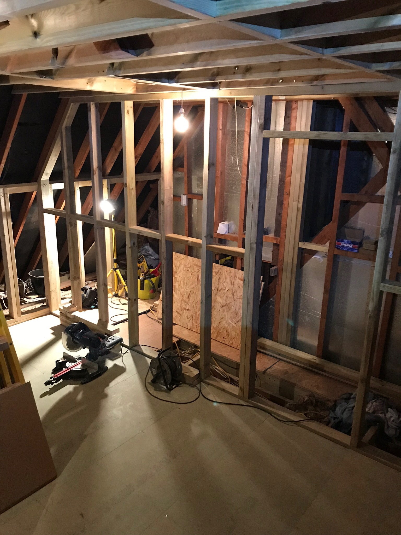 Worthing Loft Conversion Stud Wall.jpeg