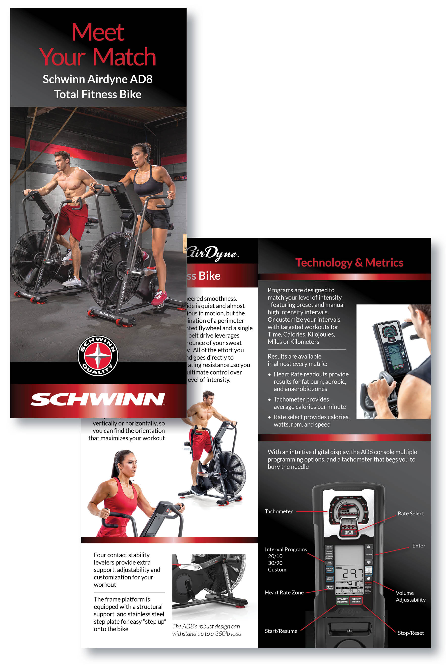 Schwinn AirDyne Bike | Nautilus Inc | Product Brochure